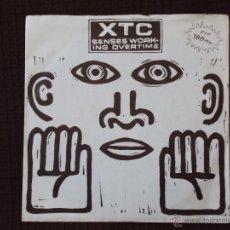 Discos de vinilo: XTC, SENSES WORKING OVERTIME +2 (ARIOLA 1983) SINGLE EP ESPAÑA. Lote 44889074
