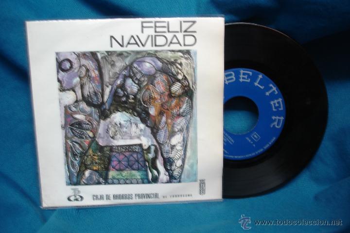 - FELIZ NAVIDAD - DISCO EP CON 4 VILLANCICOS,OBSEQUIO DE CAJA TARRAGONA - BELTER 1970 (Música - Discos de Vinilo - EPs - Música Infantil)
