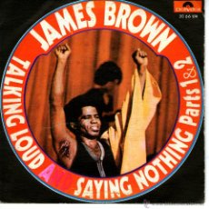 Discos de vinilo: JAMES BROWN-TALKING LOUD AND SAYING NOTHING (1 & 2). Lote 44904993