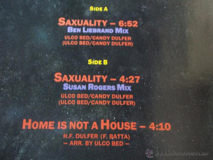 Discos de vinilo: CANDY DULFER ( SAXUALITY 2 VERSIONES - HOME IS NOT A HOUSE ) 1990-GERMANI MAXI45 ARIOLA - Foto 3 - 44906499