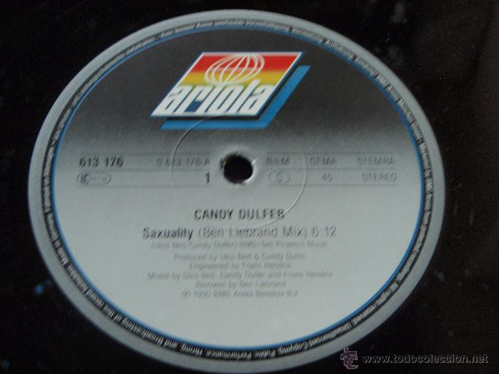 Discos de vinilo: CANDY DULFER ( SAXUALITY 2 VERSIONES - HOME IS NOT A HOUSE ) 1990-GERMANI MAXI45 ARIOLA - Foto 4 - 44906499
