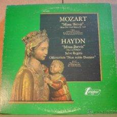Discos de vinilo: MOZART - MISSA BREVIS / HAYDN - MISSA BREVIS / SALVE REGINA - TURNABOUT-VOX TV-S 34502 - 1974. Lote 44909748
