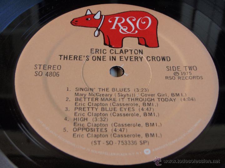 Discos de vinilo: ERIC CLAPTON ( THERE'S ONE IN EVERY CROWD ) NEW YORK-USA 1975 LP33 RSO - Foto 7 - 44911766
