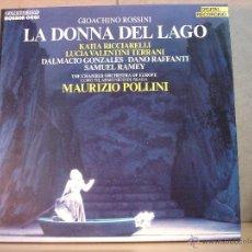 Discos de vinilo: GIOACHINO ROSSINI - LA DONNA DEL LAGO. RICCIARELLI - FONIT CETRA LROD 1006 - 1984 - 3XLP BOX. Lote 44914368