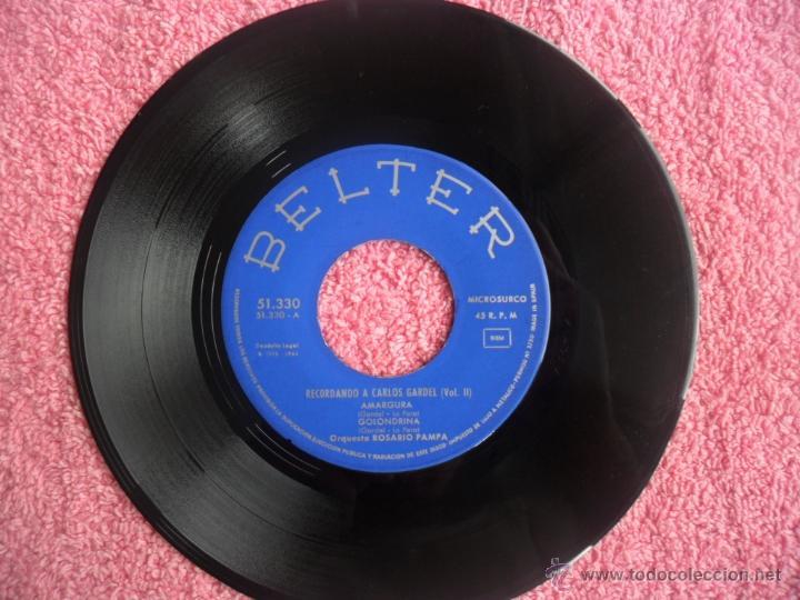 Discos de vinilo: recordando a carlos gardel vol 2 1964 belter 51330 amargura orquesta rosario pampa disco vinilo - Foto 3 - 44916242