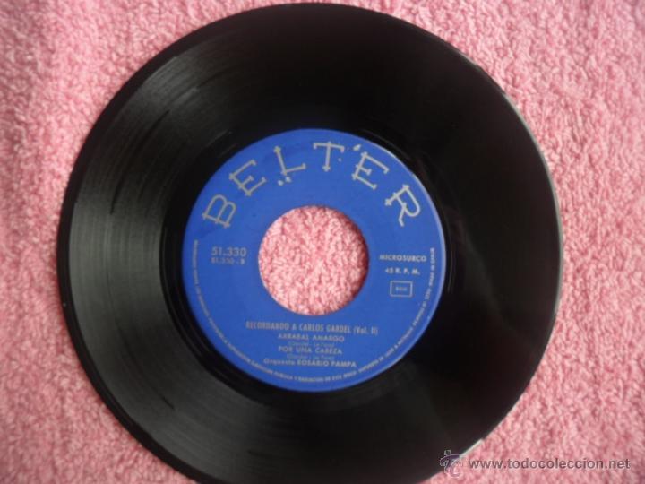 Discos de vinilo: recordando a carlos gardel vol 2 1964 belter 51330 amargura orquesta rosario pampa disco vinilo - Foto 5 - 44916242