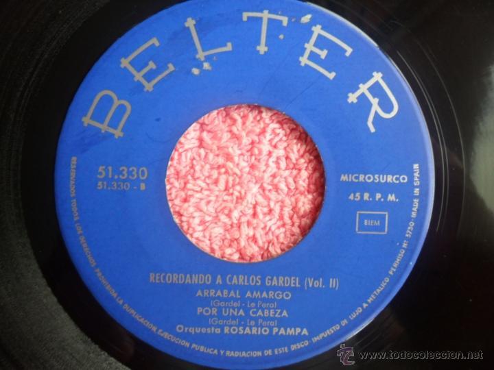 Discos de vinilo: recordando a carlos gardel vol 2 1964 belter 51330 amargura orquesta rosario pampa disco vinilo - Foto 6 - 44916242