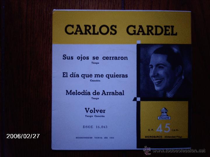 CARLOS GARDEL - SUS OJOS SE CERRARON + 3 (Música - Discos de Vinilo - EPs - Grupos y Solistas de latinoamérica)