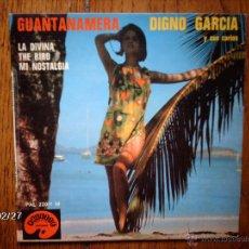 Discos de vinilo: DIGNO GARCIA Y SUS CARIOS - GUANTANAMERA + 3 - EDICIÓN FRANCESA. Lote 171039132