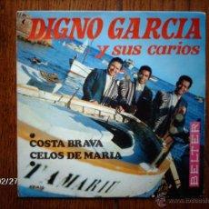Discos de vinilo: DIGNO GARCIA Y SUS CARIOS - COSTA BRAVA + CELOS DE MARÍA . Lote 44940773