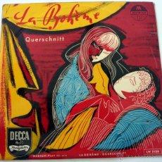 Discos de vinilo: GIACOMO PUCCINI – LA BOHEME - QUERSCHNITT DECCA – LW 5158 VINILO 10'' EDICION ALEMANA EX/VG+. Lote 44947961