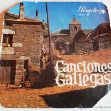 Disques de vinyle: EP DE CANCIONES GALLEGAS. PERGOLA. 6 CANCIONES. (VER TÍTULO DE CANCIONES). Lote 44948458