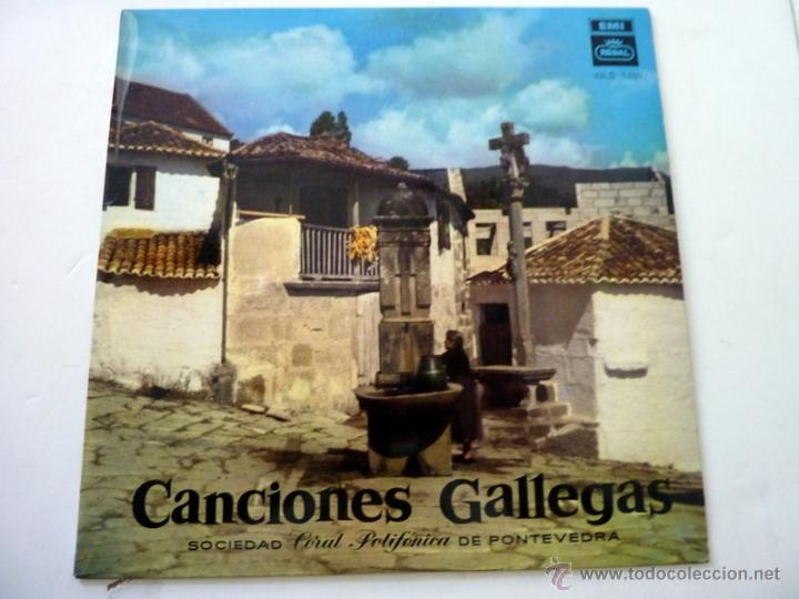 CANCIONES GALLEGAS - SOCIEDAD CORAL POLIFONICA DE PONTEVEDRA - REGAL 1958 - NM/EX (Música - Discos de Vinilo - Maxi Singles - Country y Folk)