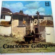 Discos de vinilo: CANCIONES GALLEGAS - SOCIEDAD CORAL POLIFONICA DE PONTEVEDRA - REGAL 1958 - NM/EX. Lote 44948507