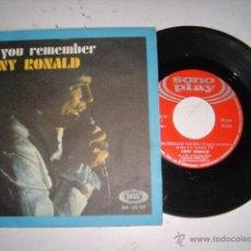 Discos de vinilo: TONY RONALD DO YOU REMEMBER AÑO 1968. Lote 44954428