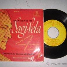 Discos de vinilo: CREACIONES SAGI - VELA ORQUESTA DE CAMARA DE MADRID AÑOS 60. Lote 44954572