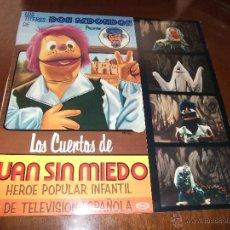 Discos de vinilo: LOS TITERES DE DON REDONDON LOS CUENTOS DE JUAN SIN MIEDO-1977-. Lote 44955483