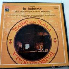 Discos de vinilo: BOX SET - LA BOHÉME - PUCCINI - CALLAS - TEATRO ALLA SCALA - 2LP 1974 NM/EX. Lote 44964447