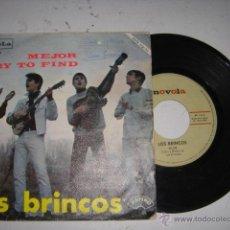 Discos de vinilo: LOS BRINCOS MEJOR, I TRY TO FIND AÑO 1966. Lote 44970474