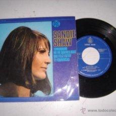 Discos de vinilo: SANDIE SHAW NO ME QUIERAS MAS,QUE FELIZ ESTOY,TE EQUIVOCAS,TOMORROW AÑO 1966. Lote 44972501