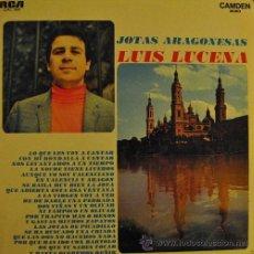 Disques de vinyle: LUIS LUCENA - JOTAS ARAGONESAS - LP MUY RARO DE VINILO DE 1969. Lote 44974606