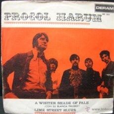 Discos de vinil: PROCOL HARUM - A WHITER SHADE OF PALE / LIME STREET BLUES - EDICION ESPAÑOLA DERAM 1967. Lote 44979826