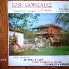 Discos de vinilo: JOSE GONZALEZ - PRESI - TOCA LA GAITA + 3. Lote 44982526