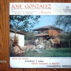 Discos de vinilo: JOSE GONZALEZ - PRESI - TOCA LA GAITA + 3. Lote 44982559