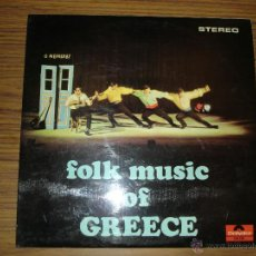 Discos de vinilo: FOLK MUSIC OF GREECE. Lote 44988506