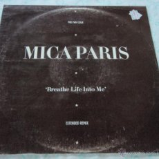 Discos de vinilo: MICA PARIS ( BREATHE LIFE INTO ME 2 VERSIONES - IN THE CITY ) ENGLAND-1988 MAXI45 ISLAND . Lote 45010308