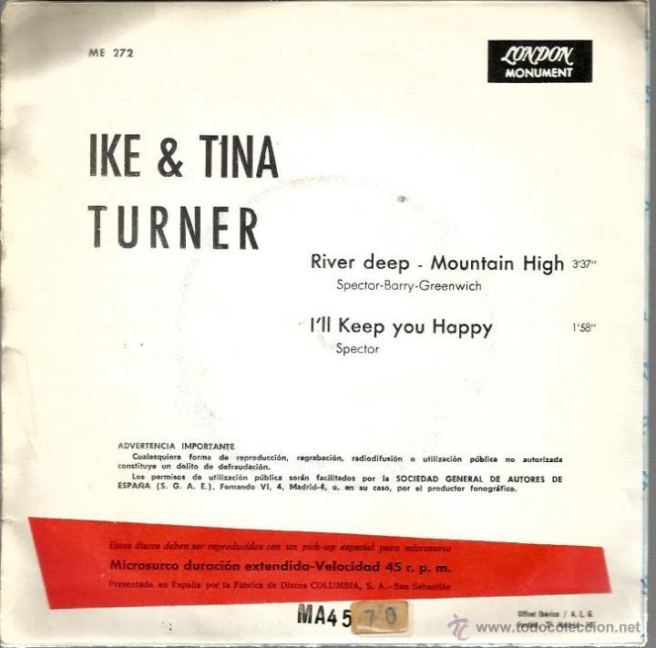 Discos de vinilo: SG IKE & TINA TURNER : RIVER DEEP, MOUNTAIN HIGH - Foto 2 - 45022341