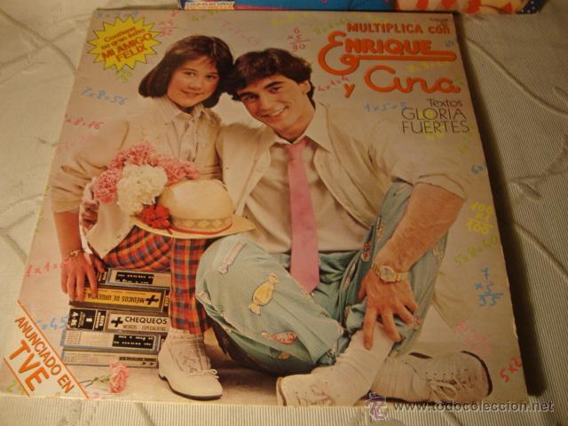 DISCO LP ALBUM ENRIQUE Y ANA MI AMIGO FELIZ MUTIPLICA CON ENRIQUE Y ANA - TEXTOS GLORIA FUERTES (Música - Discos - LPs Vinilo - Música Infantil)