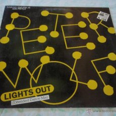 Discos de vinilo: PETER WOLF ''TOP-HIT IN USA'' ( LIGHTS OUT 3 VERSIONES ) 1984-GERMANY MAXI45 EMI. Lote 45040578