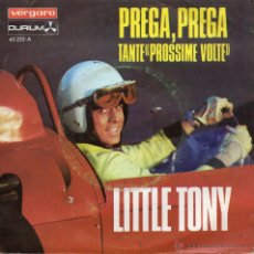 Discos de vinilo: LITTLE TONY - V FESTIVAL DE MALLORCA, SG, PREGA, PREGA + 1, AÑO 1968. Lote 45049744