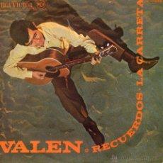 Discos de vinilo: VALEN, SG, RECUERDOS + 1, AÑO 1968. Lote 45050297
