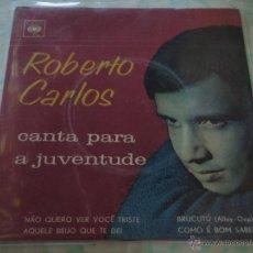 Discos de vinilo: ROBERTO CARLOS ( NAO QUERO VER VOCÊ TRISTE - AQUELE BEIJO QUE TE DEI - BRUCUTÚ - COMO É BOM SABER ). Lote 45053004