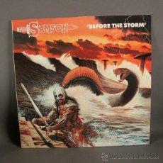 Discos de vinilo: LP. DISCO DE VINILO. SAMSON - BEFORE THE STORM. 1982. (BRD). Lote 45059548