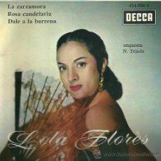 Discos de vinilo: LOLA FLORES EP SELLO DECCA AÑO 1962 EDITADO EN FRANCIA. Lote 45063781