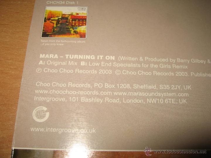 Discos de vinilo: MARA TURNING IT ON .CHOO CHOO RECORDS UK AÑO 2003 - Foto 3 - 45071176