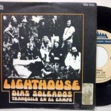 Discos de vinilo: LIGHTHOUSE · SUNNY DAYS / TAKE IT SLOW · CANADA SOUL ROCK ((ESCUCHA)). Lote 29979766
