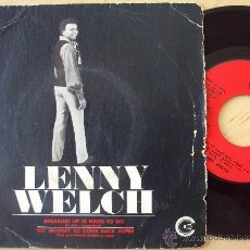Discos de vinilo: LENNY WELCH - BREAKING UP IS HARD TO DO (SG US 1970) (((ESCUCHA))). Lote 34420925