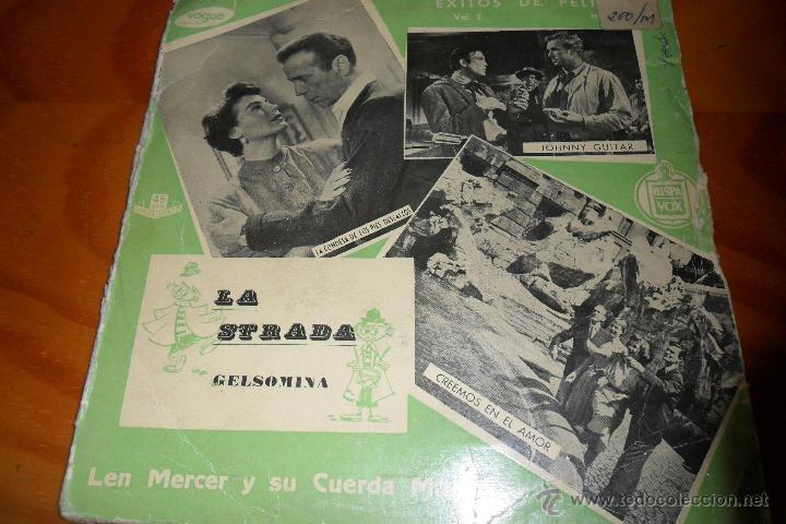LA STRADA -EXITOS DE PELICULAS VOL.2 LEN MERCER Y SU CUERDA MAGICA - EP 1958 (Música - Discos de Vinilo - EPs - Bandas Sonoras y Actores)