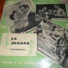 Discos de vinilo: LA STRADA -EXITOS DE PELICULAS VOL.2 LEN MERCER Y SU CUERDA MAGICA - EP 1958. Lote 45082513