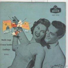 Discos de vinilo: EL TERCER HOMBRE. MOULIN ROUGE. CANDILEJAS. DECCA. EP. Lote 45083722