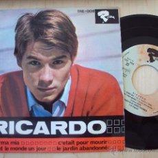 Discos de vinilo: RICARDO - CROONER FRANCES EP 1966. Lote 27758972