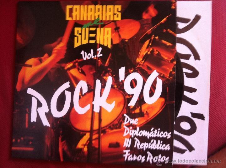 LP CANARIAS ME SUENA VOL.2 ROCK´90 (Música - Discos - LP Vinilo - Grupos Españoles de los 90 a la actualidad)