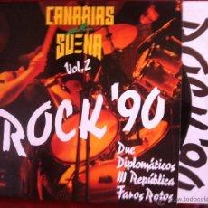 Discos de vinilo: LP CANARIAS ME SUENA VOL.2 ROCK´90. Lote 45301583