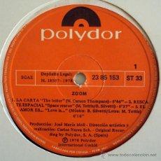 Discos de vinilo: ZOOM - BEBU SILVETTI & JM MOLL - MODERN SOUL JAZZ FUNK ((ESCUCHA)). Lote 31605212