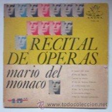 Discos de vinilo: MARIO DEL MONACO - RECITAL DE ÓPERAS - EDITADO EN BRASIL. Lote 45087824