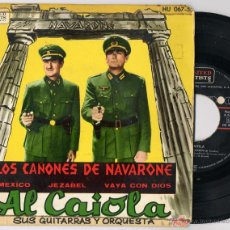Discos de vinilo: AL CAIOLA - GUNS OF NAVARONE / MEXICO / JEZABEL / VAYA CON DIOS (EP 1962) (((ESCUCHA))). Lote 45087939